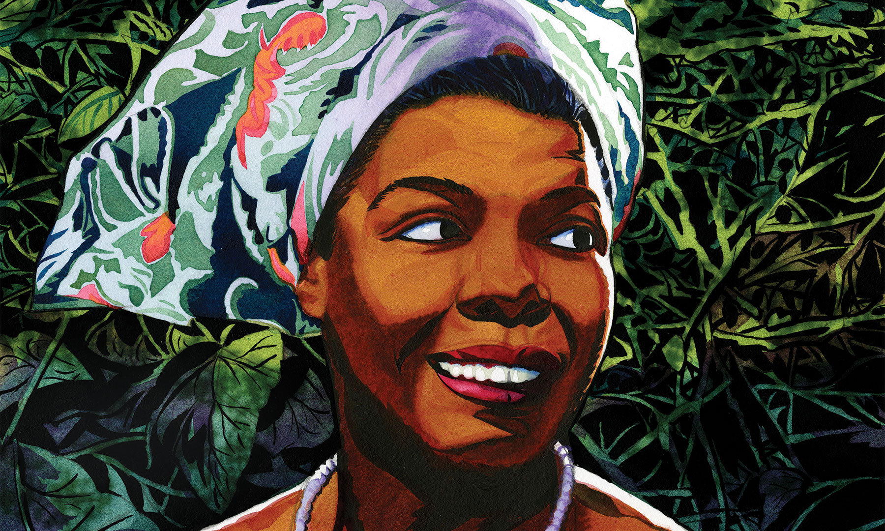 Maya Angelou, TT58, Magazine, Celebrate Maya Angelou, Alice Pettway, Jeffrey Smith, Illustration, Poetry