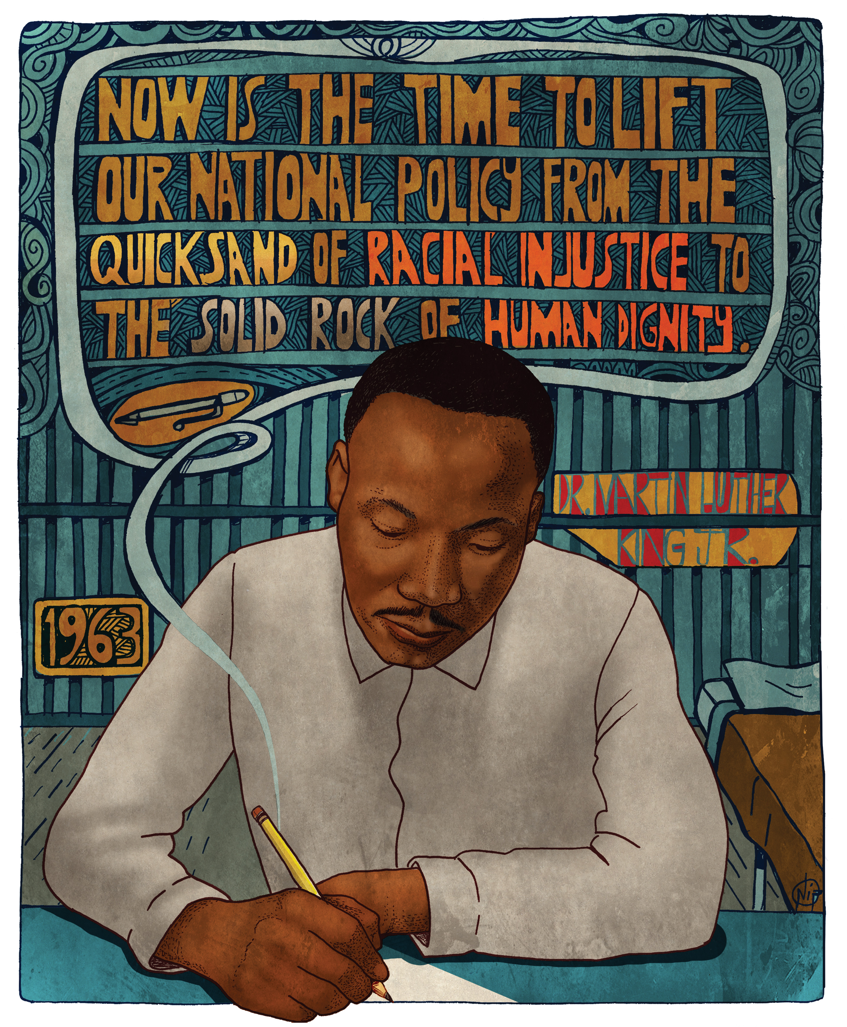 Dr. Martin Luther King Jr., Letters from a Birmingham Jail, One World, One World Poster