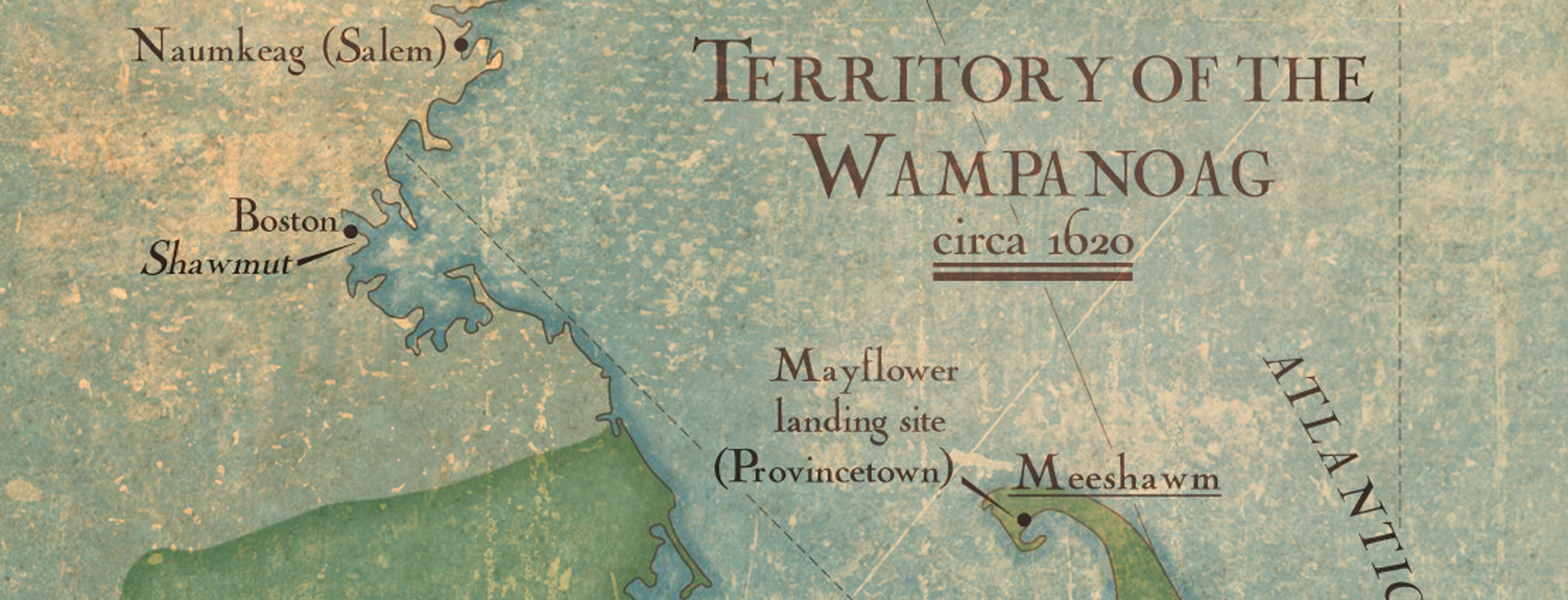 Territory of the Wampanoag Map