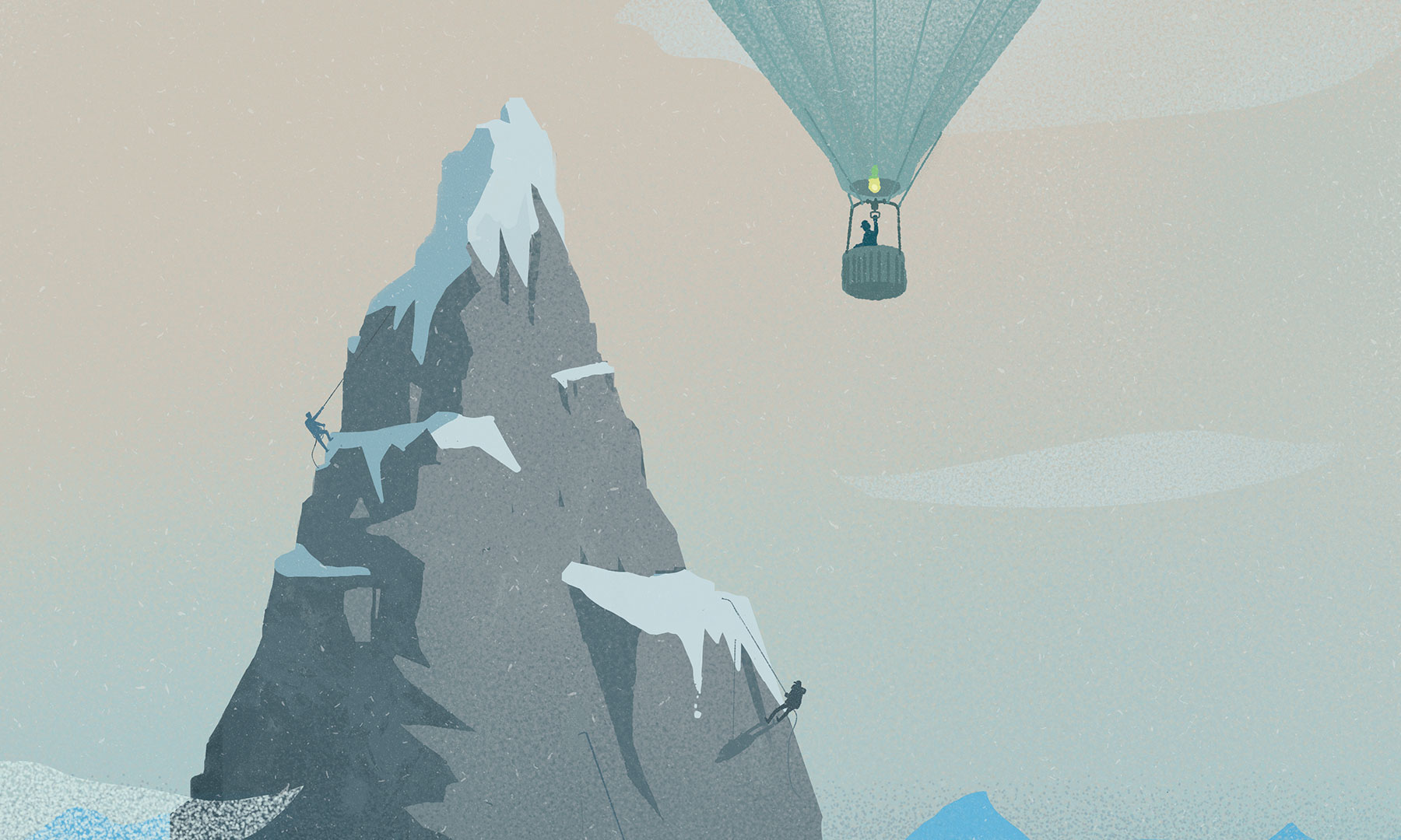 What is white privilege really, Article, Feature, TT60, Magazine, Illustration, Hot air balloon, Mountain, Climbing, Inequity