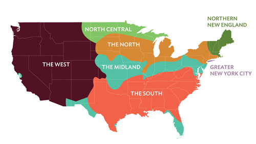 Is Robert Delaneys Dialect Map Of American English Seen As - Us government map nll