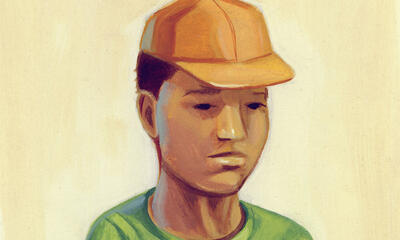 Illustration of a young man in a hat