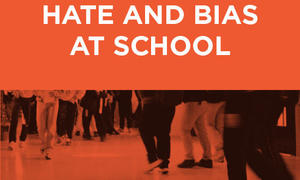 Responding to Hate and Bias Cover Image, students walking in hallway