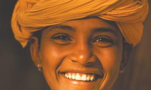 A smile student with turban