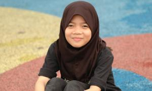 girl in hijab smiling