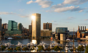 Baltimore, Maryland, skyline.