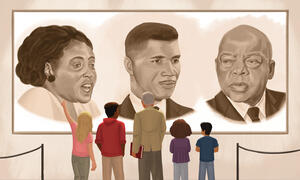 Illustration of civil rights leaders.