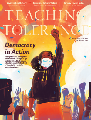 Cover of Fall 2020 issue of Teaching Tolerance magazine.