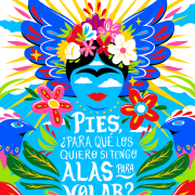 Colorful image of Frida Kahlo quote