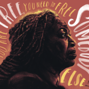 "Illustration of Toni Morrison with her quote ""If you are free, you need to free somebody else"" surrounding her head."""
