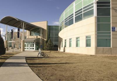 Columbine High School front entrance