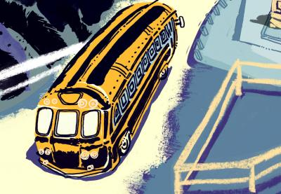 Teaching Tolerance illustration of a school bus