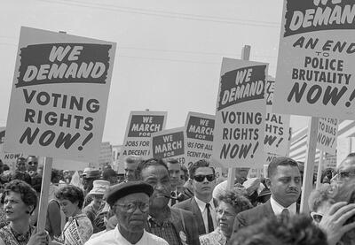 Organizers march for voting rights