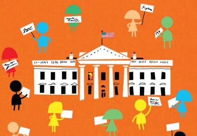 Students Speak White House Illustration by James Yang