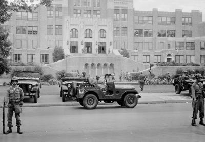 TT57 Little Rock Military Police Guarding School