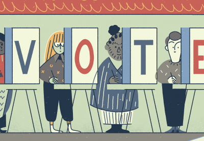 Register voters illustration
