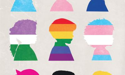 Illustration of young students of various sexual orientations and gender identities