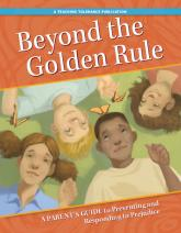 Beyond the Golden Rule cover image, four children looking upward