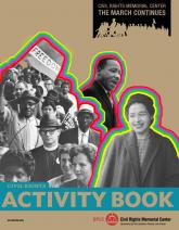 Civil Rights Activity Book Cover, civil rights photo collage