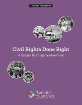 Civil Rights Done Right cover image- purple