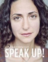 Speak Up Cover, woman's face