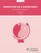 Perspectives for a Diverse Hawai'i Publication Cover | Teaching Tolerance