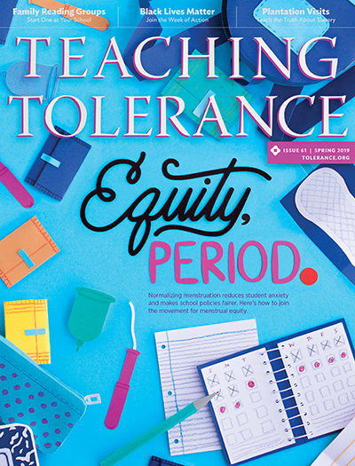 Cover of Teaching Tolerance Magazine, Spring 2019 Edition.