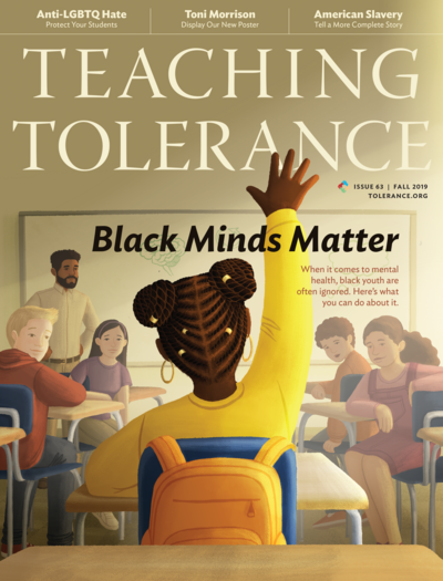 Cover of the Fall 2019 issue of Teaching Tolerance magazine.
