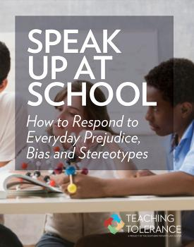 speak up at school teaching tolerance