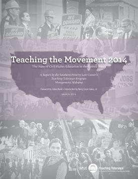 TTM 2014 Cover, image of US map with civil rights photo collage in background