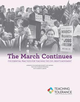 The March continues Cover image, civil rights photo collage