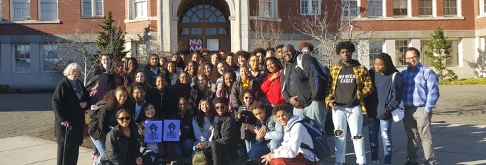 Students of BSU gathered together for a group shot.