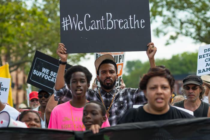 BLM coalition supporters honor Eric Garner NYC