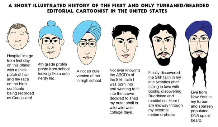 An illustrated history of Vishavjit Singh's life
