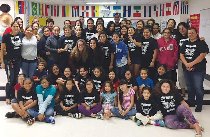 A group photo of the Mariposas empowerment group.