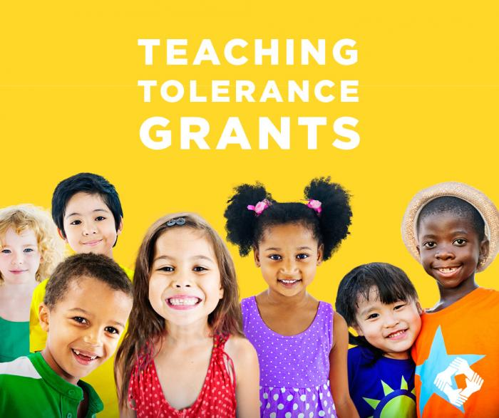 Teaching Tolerance Grants - yellow background w/ kids