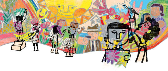 Yaki's Mural by Alexandra Melnick Illustrated by Jing Jing Tsong | Story Corner | TT58