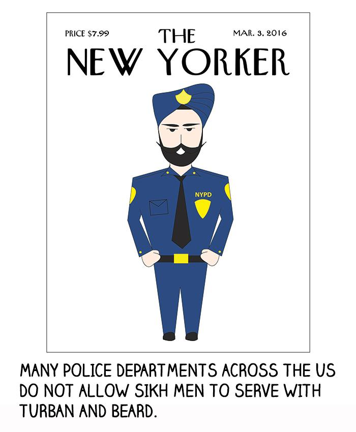 Many police departments across the U.S. do not allow Sikh men to serve with a turban and beard.