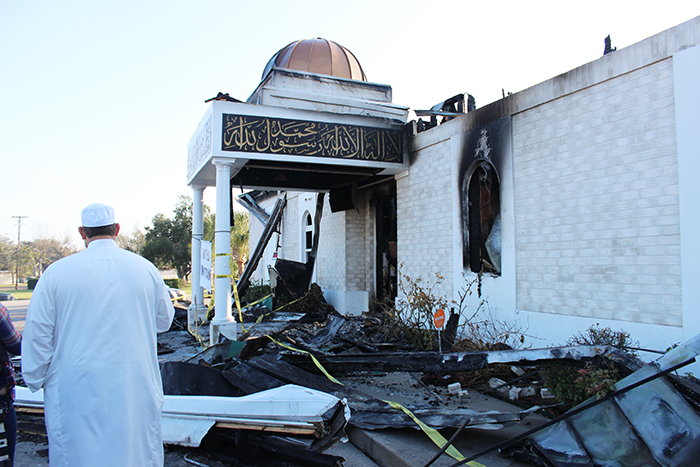 Burned Mosque in Victoria, Texas.