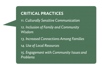 Critical Practices Family and Community Engagement Call-out Bubble 1