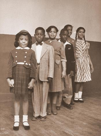 Students in line during segregation
