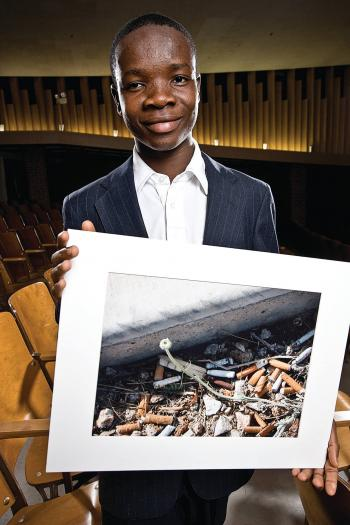Kelvin Jallayu, 17, from Liberia, photo portrait