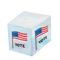 Illustration of a voting box
