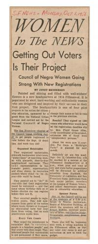 A newspaper clipping from a women's suffrage campaign