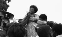 Fannie Lou Hamer at a demonstration.